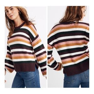 Madewell Striped Payton Pullover Sweater M NWT